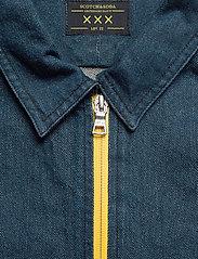 Scotch & Soda - Lot 22 popover denim worker shirt with contrast zipper - podstawowe koszulki - indigo - 3
