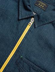 Scotch & Soda - Lot 22 popover denim worker shirt with contrast zipper - podstawowe koszulki - indigo - 2