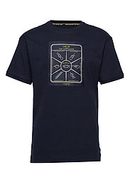 Lot 22 bonded t-shirt in contrast colour - MIDNIGHT
