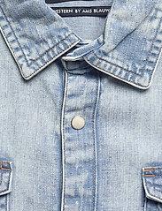 Scotch & Soda - Ams Blauw short sleeve denim western shirt with seasonal was - denimskjorter - bleached indigo - 3