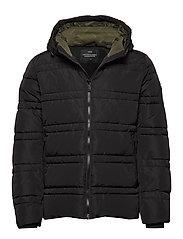 Classic hooded PrimaLoft jacket - BLACK