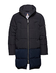 Long quilted down jacket - NIGHT