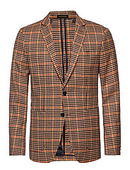 Chic unconstructed  blazer in yarn-dyed pattern - COMBO B