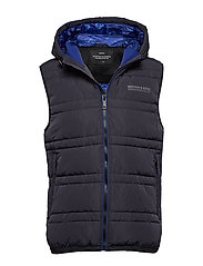Classic hooded quilted bodywarmer - NIGHT