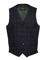 Gilet in yarn-dyed structured quality - COMBO A