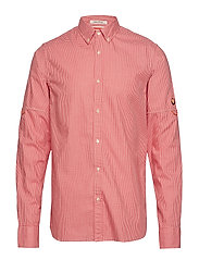 REGULAR FIT - Mini-check shirt with sleeve roll-up - COMBO A