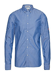REGULAR FIT - Mini-check shirt with sleeve roll-up - COMBO C