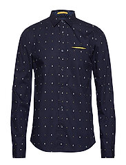 REGULAR FIT- Classic all-over printed pochet shirt - COMBO A