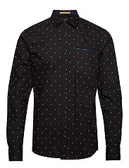 REGULAR FIT- Classic all-over printed pochet shirt - COMBO E