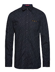 REGULAR FIT- Classic all-over printed pochet shirt - COMBO F