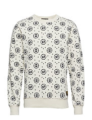 Crewneck sweat with logo all-over print - COMBO A