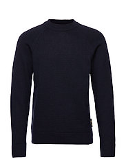 Chic wool-blend raglan pull with high collar - NIGHT