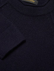Scotch & Soda - Chic wool-blend raglan pull with high collar - tricots basiques - night - 2