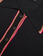 Scotch & Soda - Drapy knitted polo with sporty ribs - pikeepaidat - black - 2