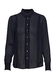 Regular fit shirt with ruffles - NIGHT