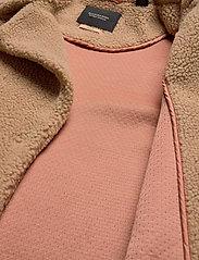 Scotch & Soda - Bonded teddy jacket - sztuczne futro - sand - 5