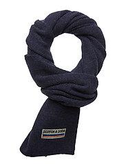 Classic rib knit scarf in soft wool-blend quality - NIGHT