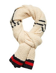 Knitted teddy scarf - COMBO A