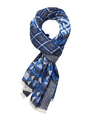 Woven wool-blend scarf in mix and match patterns - COMBO B