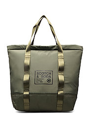 Padded shopper with logo print - ARMY