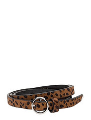 leather belt with animal print - COMBO A