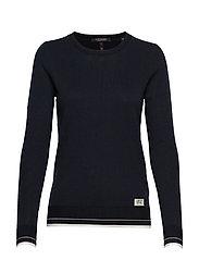 Basic crewneck pullover - NIGHT
