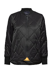 Easy straight fit bomber with special quilting - BLACK
