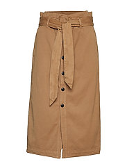 High waisted skirt in drapy quality - SAND