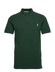 Ams Blauw garment dyed polo - GREEN SMOKE