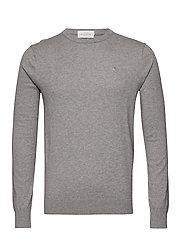 NOS Cotton cashmere crewneck knit - GREY MELANGE