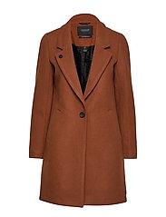 Classic tailored coat with half lining - CEDAR WOOD