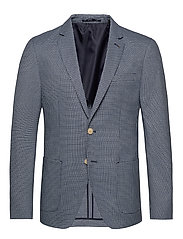 Classic blazer in structured yarn-dyed pattern - COMBO A