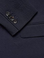 Scotch & Soda - Classic half-lined summer seersucker blazer - blazers à boutonnage simple - midnight - 3