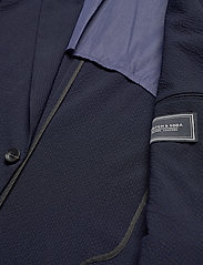 Scotch & Soda - Classic half-lined summer seersucker blazer - blazers à boutonnage simple - midnight - 4