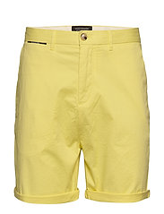 Mid length - Classic chino short in pima cotton quality - BAMBOO YELLOW