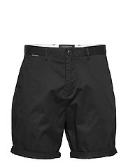Mid length - Classic chino short in pima cotton quality - BLACK