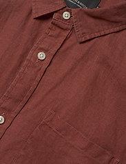 Scotch & Soda - REGULAR FIT- Shortsleeve garment -dyed linen shirt - basic skjorter - cinnabar - 2
