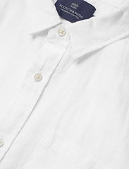 Scotch & Soda - REGULAR FIT- Shortsleeve garment -dyed linen shirt - basic shirts - white - 2