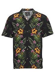 HAWAII FIT-  Shorstleeve shirt with Hawaiian flower print - COMBO A