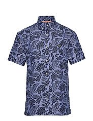 HAWAII FIT- All-over  printed linen shortsleeve shirt - COMBO A