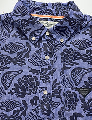 Scotch & Soda - HAWAII FIT- All-over  printed linen shortsleeve shirt - hørskjorter - combo a - 2