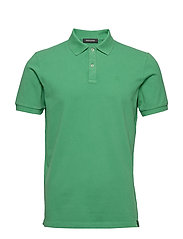 Garment-dyed stretch pique polo - PARADISE GREEN