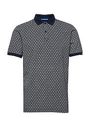 All-over printed polo in stretch pique quality - COMBO A