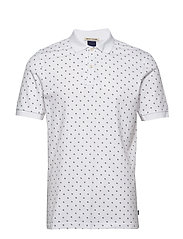 All-over printed polo in stretch pique quality - COMBO B