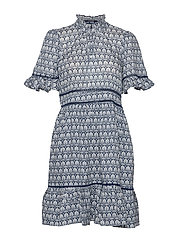 Printed dress with ladder lace - COMBO A