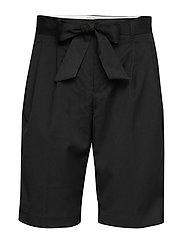 Longer length tailored shorts - BLACK