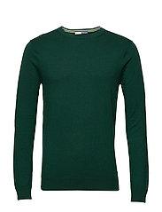 Ams Blauw cotton cashmere crew  neck pull - GREEN SMOKE