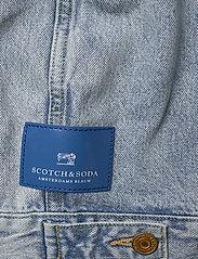 Scotch & Soda - Ams Blauw Trucker Jacket - organic cotton -Street Beach - farkkutakit - street beach - 5