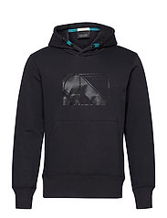 Club Nomade sweat hoody with kangaroo pockets - MIDNIGHT
