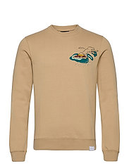 Crew neck  sweat with aop - COMBO A